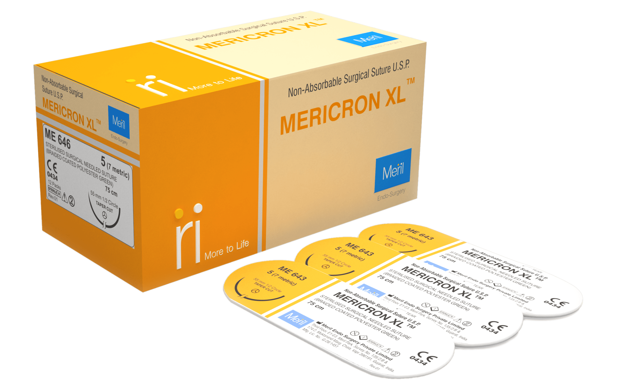 MERICRON XL - Non-Absorbable Suture