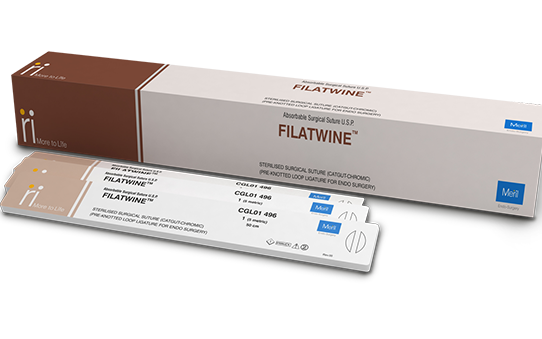 Filatwine - Loop Chromic Surgical Suture